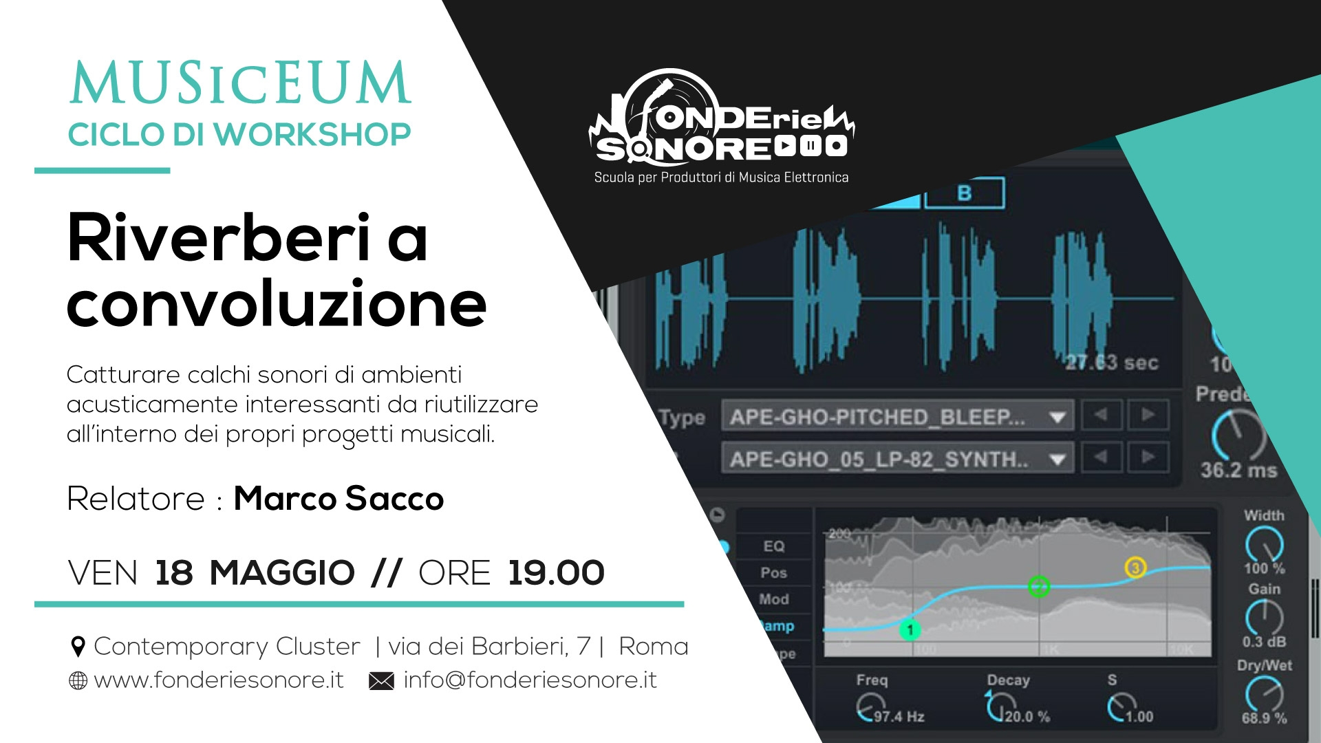 Workshop gratuito - Riverberi a Convoluzione