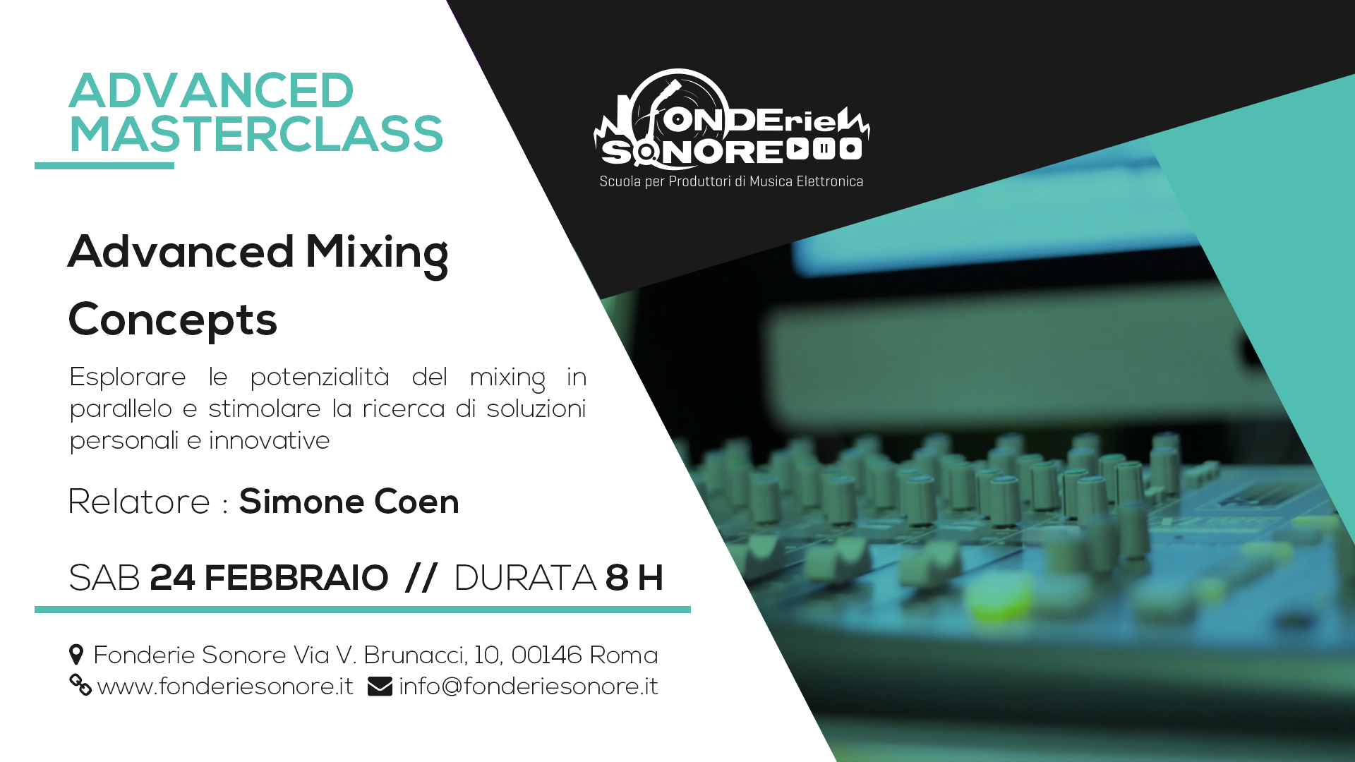 Masterclass - Advanced Mixing Concepts