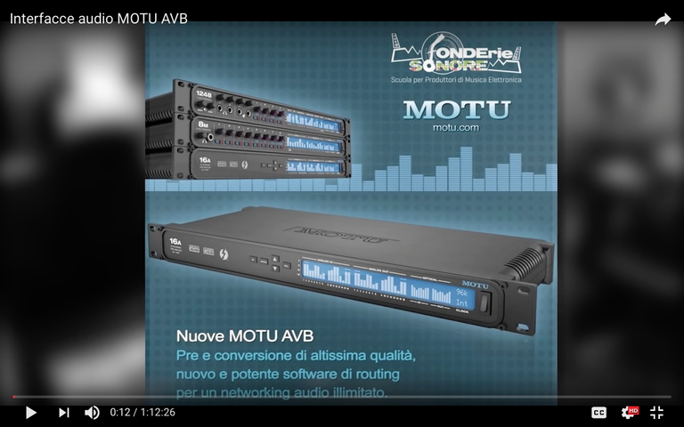 Presentazione interfacce audio MOTU AVB