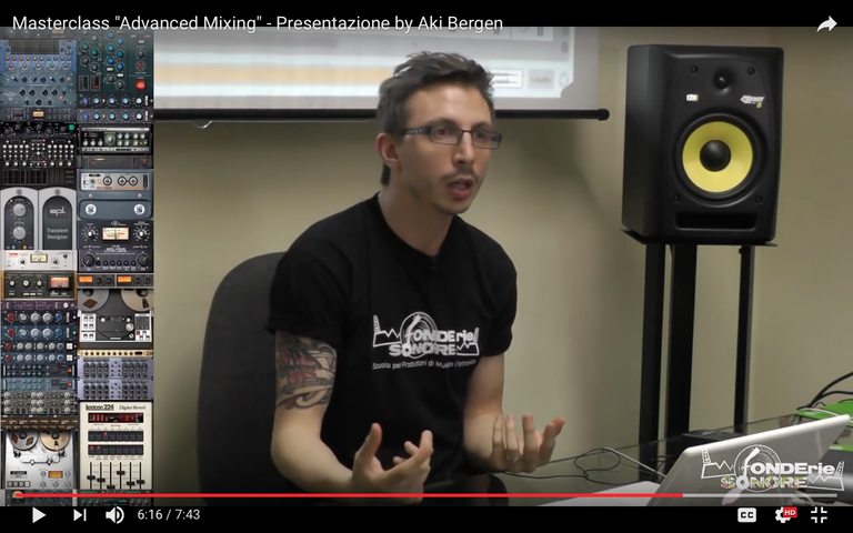 Presentazione Advanced Mixing Masterclass