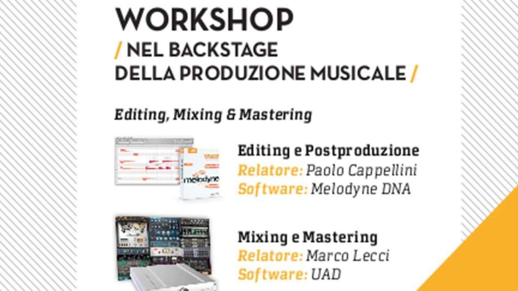 Sab 26/10: Workshop Nel Backstage della Produzione Musicale