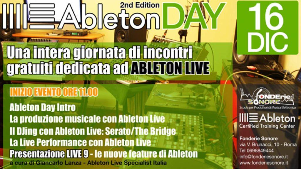Dom 16/12: Ableton Day - Seconda Edizione