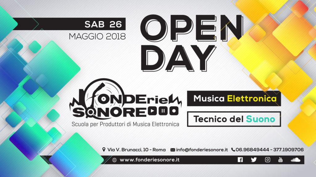 Sab 26/05: Open Day e Iscrizioni Corsi 2018/2019