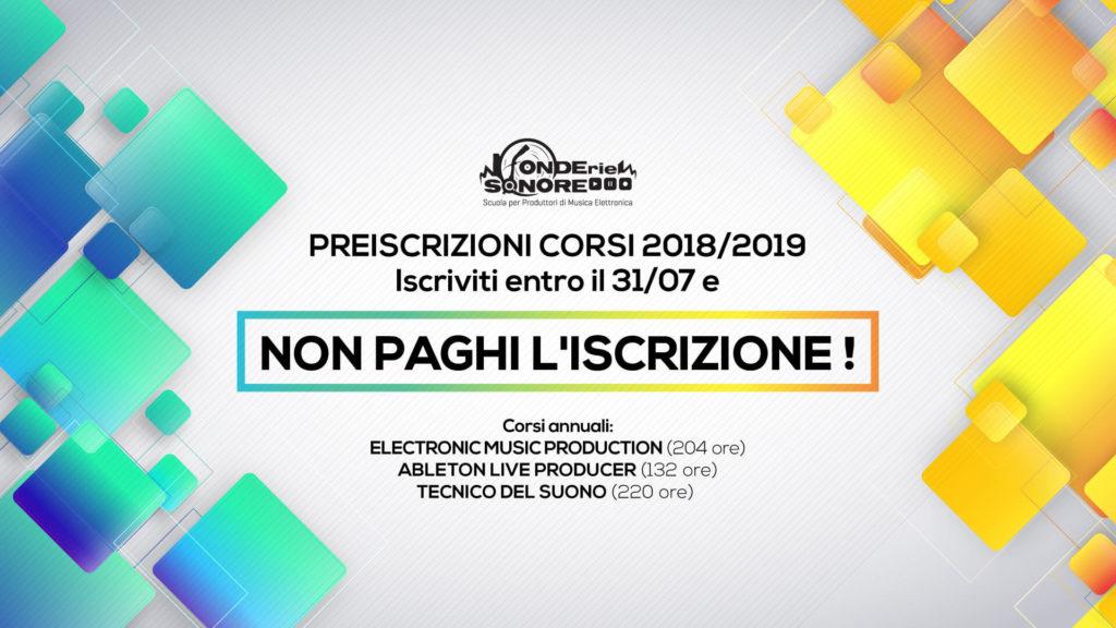 Preiscrizioni Corsi 2018-2019