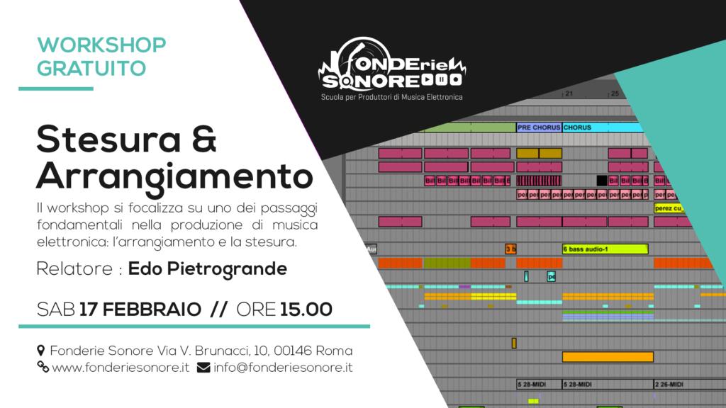 Workshop - Arrangiamento e stesura nella musica elettronica