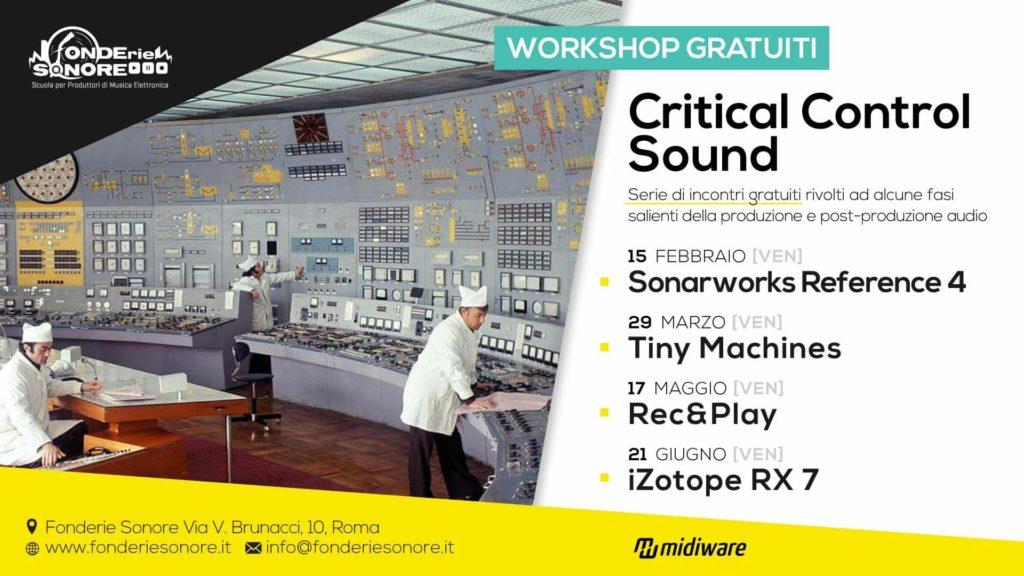 Critical Sound Control - Ciclo di Workshop Gratuiti
