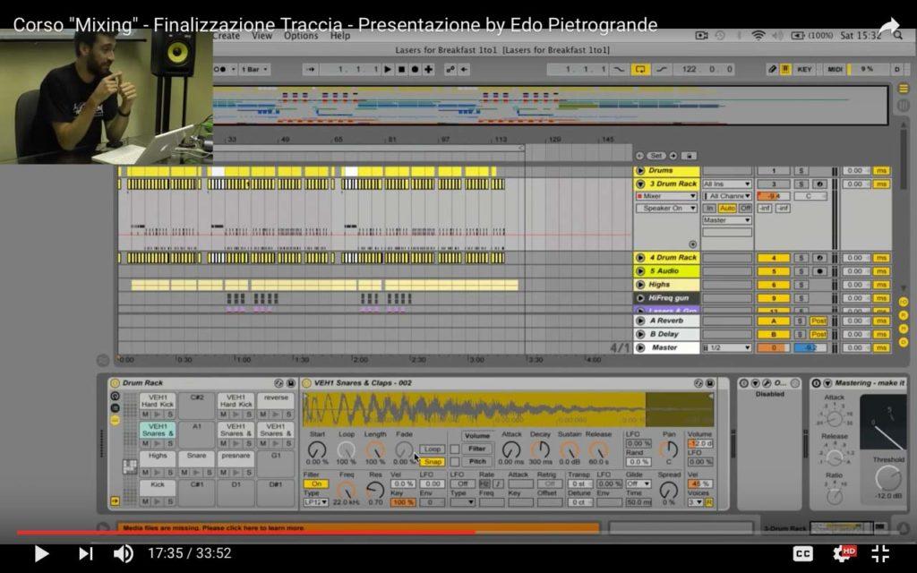 Finalizzazione traccia con Edo Pietrogrande