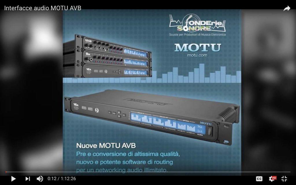 Presentazione interfacce audio MOTU AVB