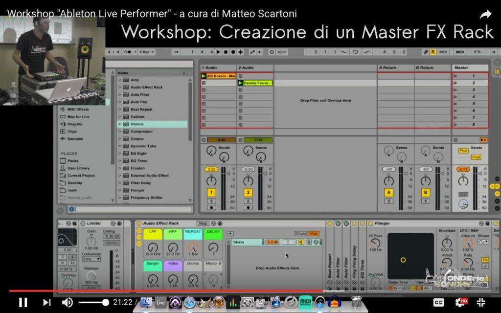 Ableton Live Performer – Creazione Master FX Rack
