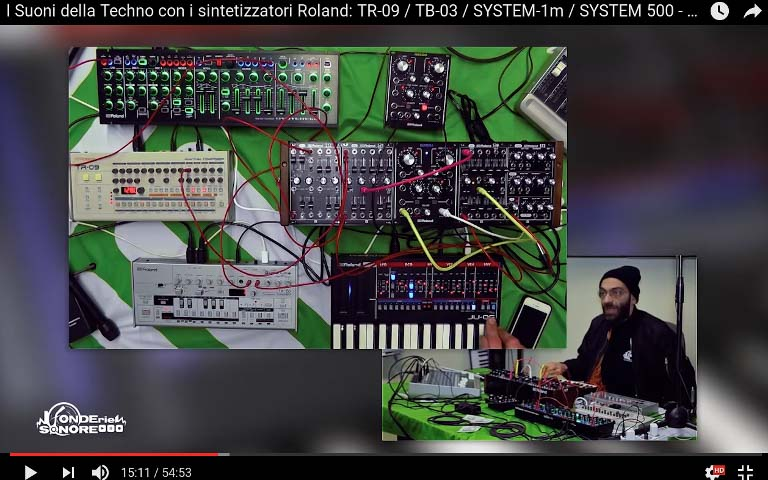 Synth Roland con Luciano Lamanna