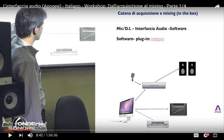 """""""Dall'acquisizione al Mixing"""" – Workshop"""