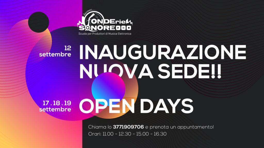 Inaugurazione Nuova Sede & Open Days